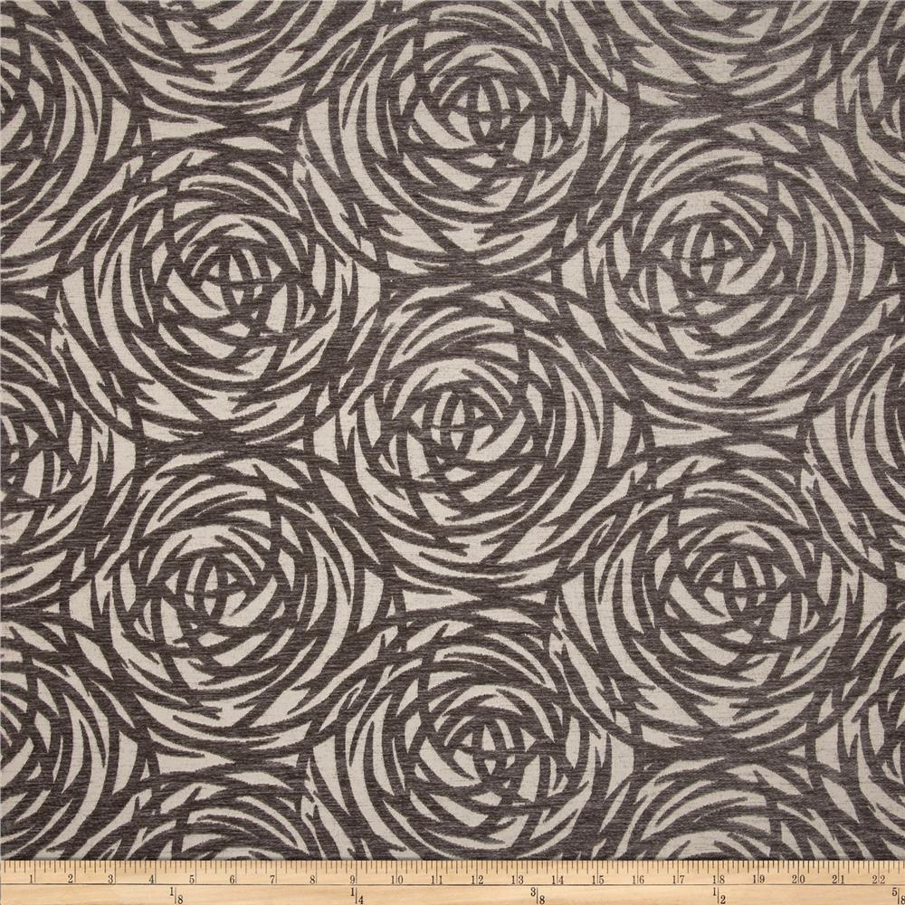Robert Allen @ Home Mod Circles Chenille Jacquard Greystone