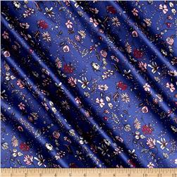 Liberty of London Belgravia Silk Satin Charmeuse Pirouette Azure/Pink