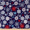 Kaufman Swell Noel Snowflakes Winter