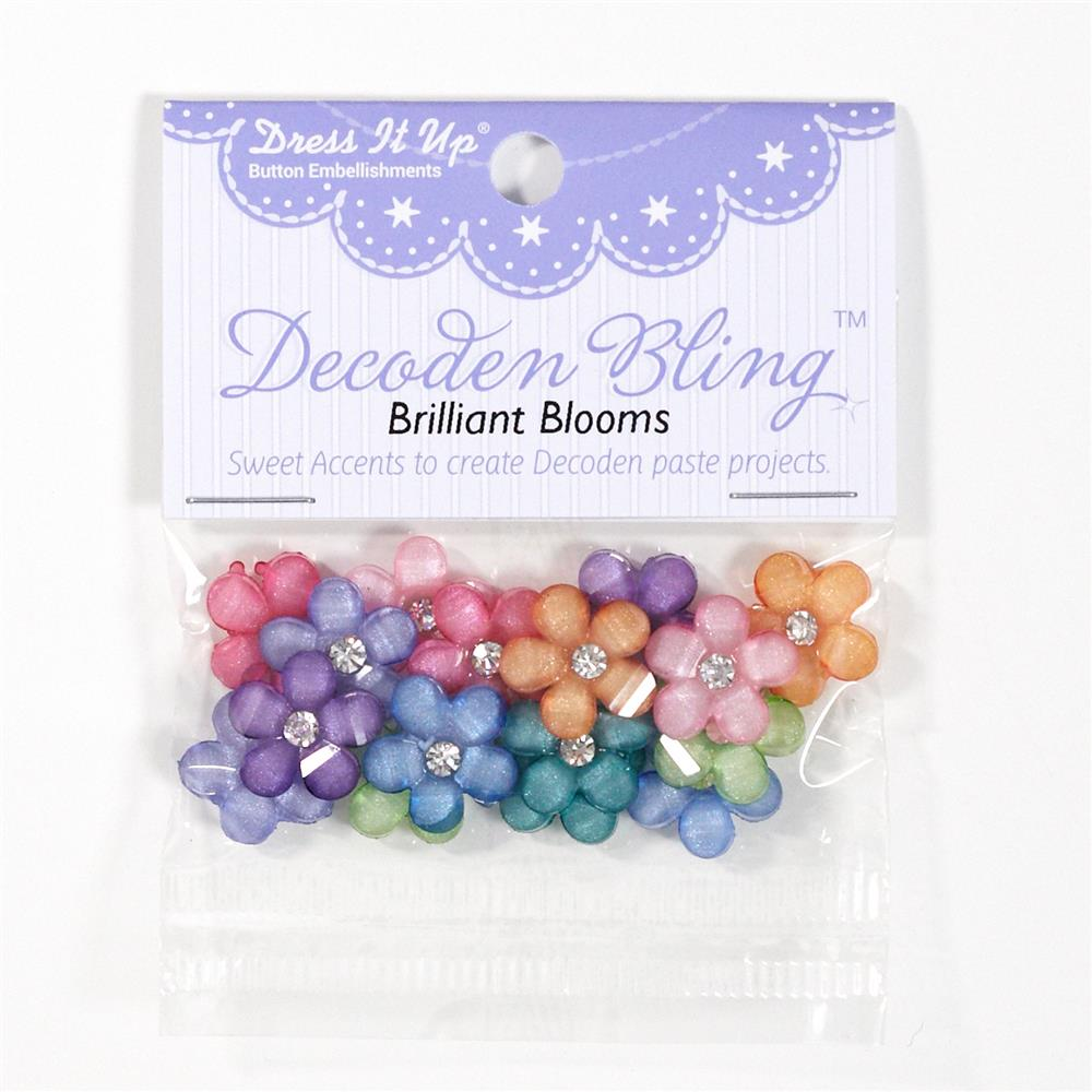 Dress It Up Embellishment Buttons Brilliant Blooms