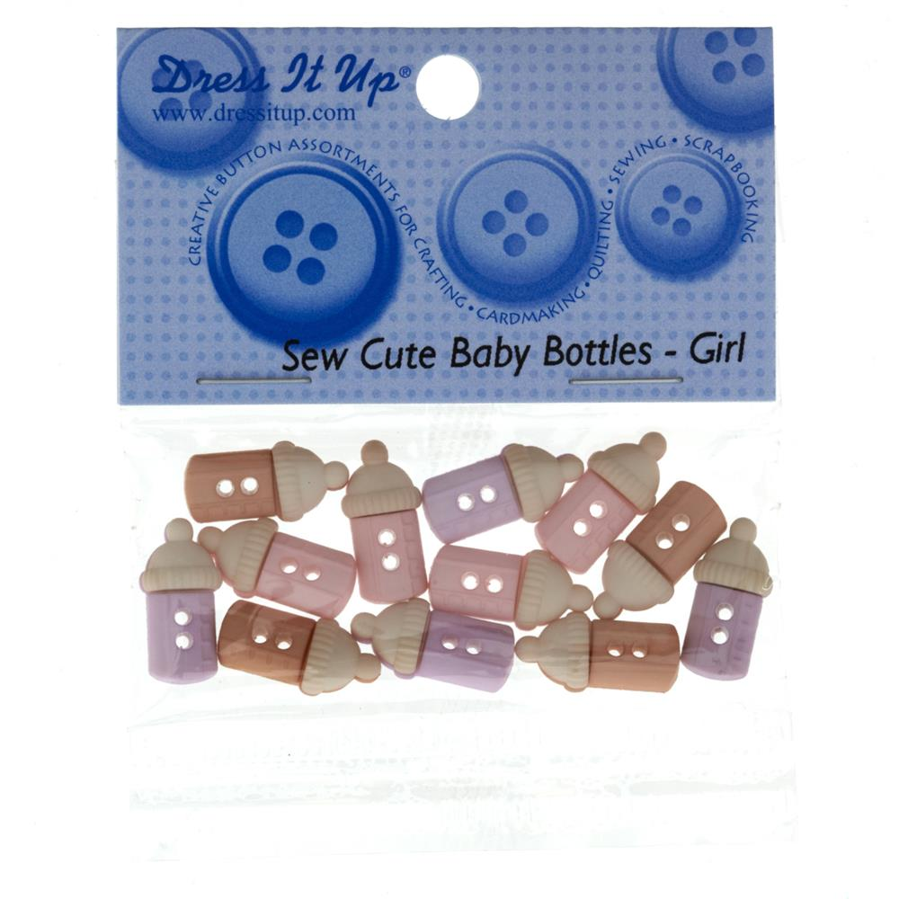 Dress It Up Embellishment Buttons  Sew Cute Baby Bottles Girl
