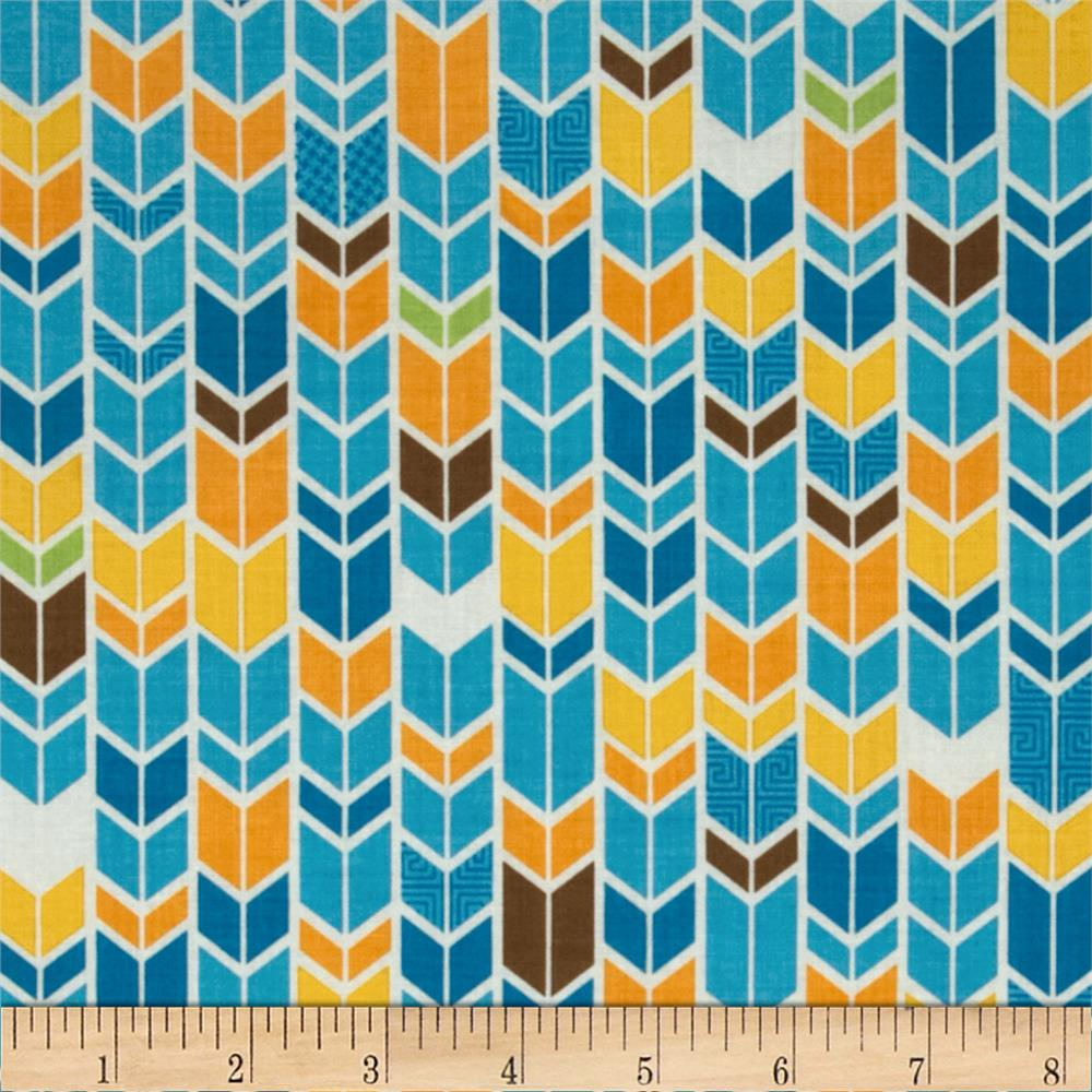 Riley Blake Fun & Games Chevron Blue