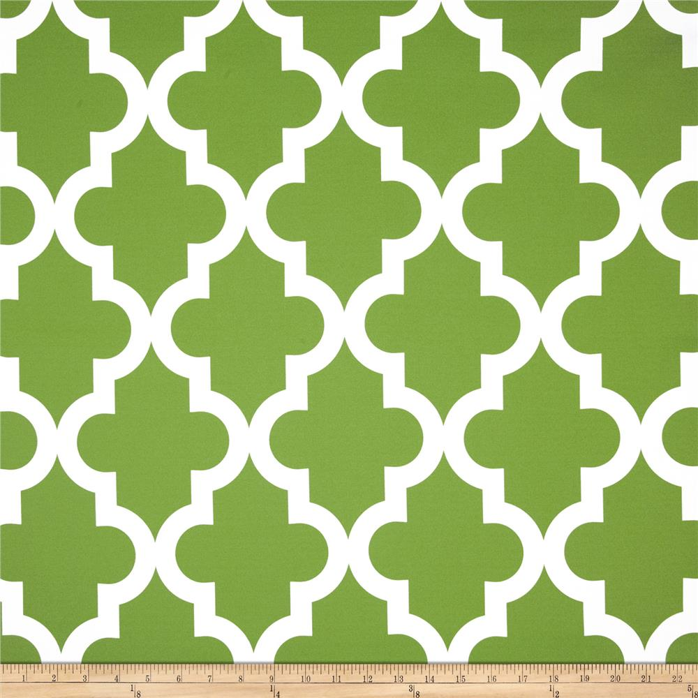 RCA Trellis Blackout Drapery Fabric Green