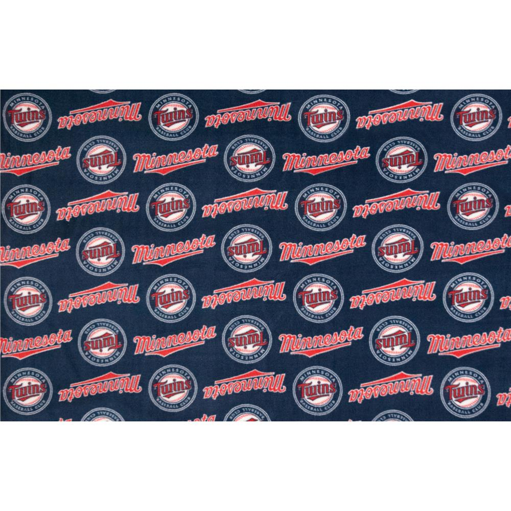 MLB Fleece Minnesota Twins Fabric By The Yard