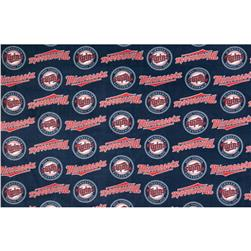 MLB Fleece Minnesota Twins Plaid Navy/Red