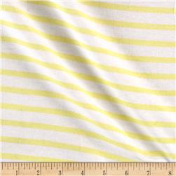 Interlock Knit Print Stripes Yellow