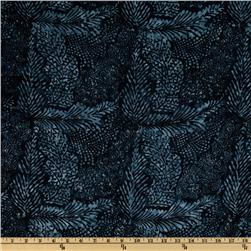 108'' Wide Tonga Batik Quilt Backing Leaves Beluga