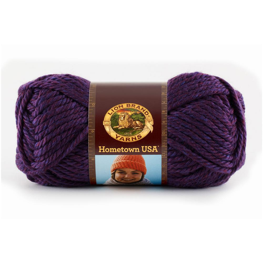Lion Brand Hometown USA Yarn (148) Portland Wine