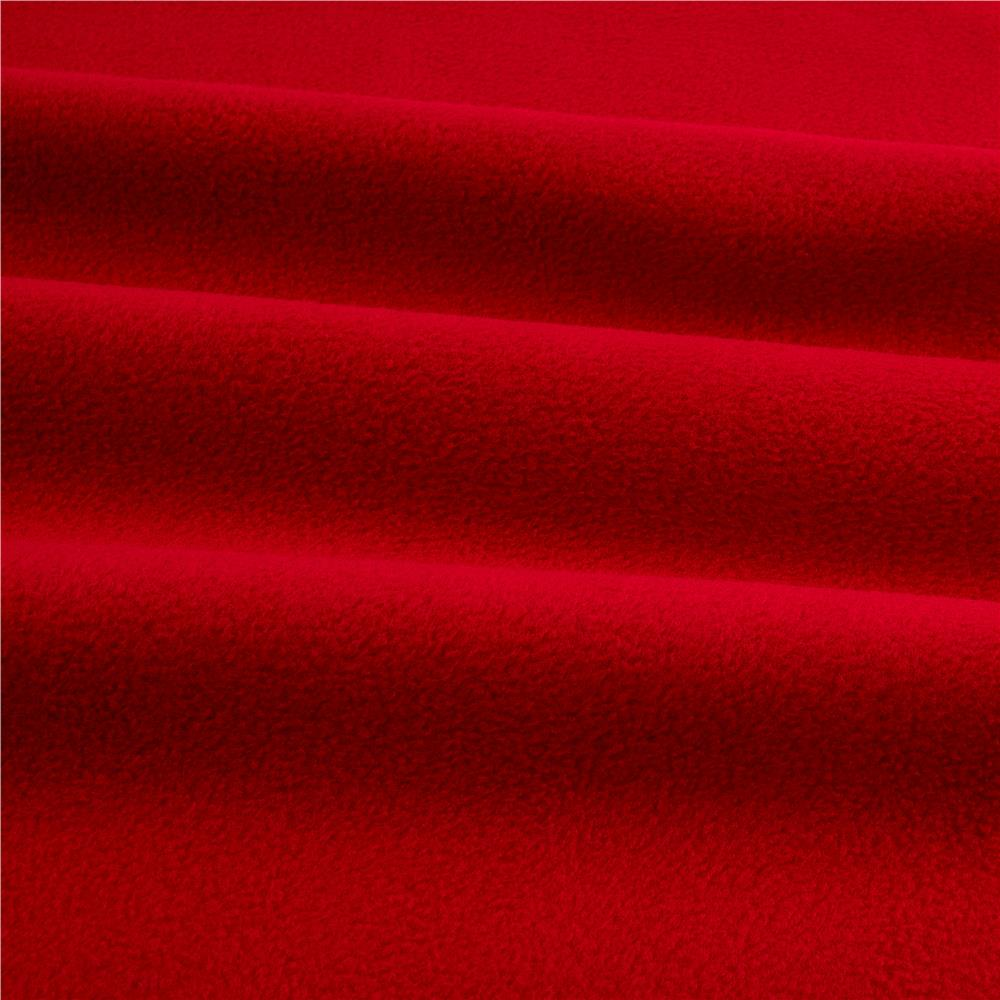 Winterfleece Velour Red Discount Designer Fabric
