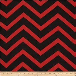 Chiffon Large Stripe Chevron Red/Black