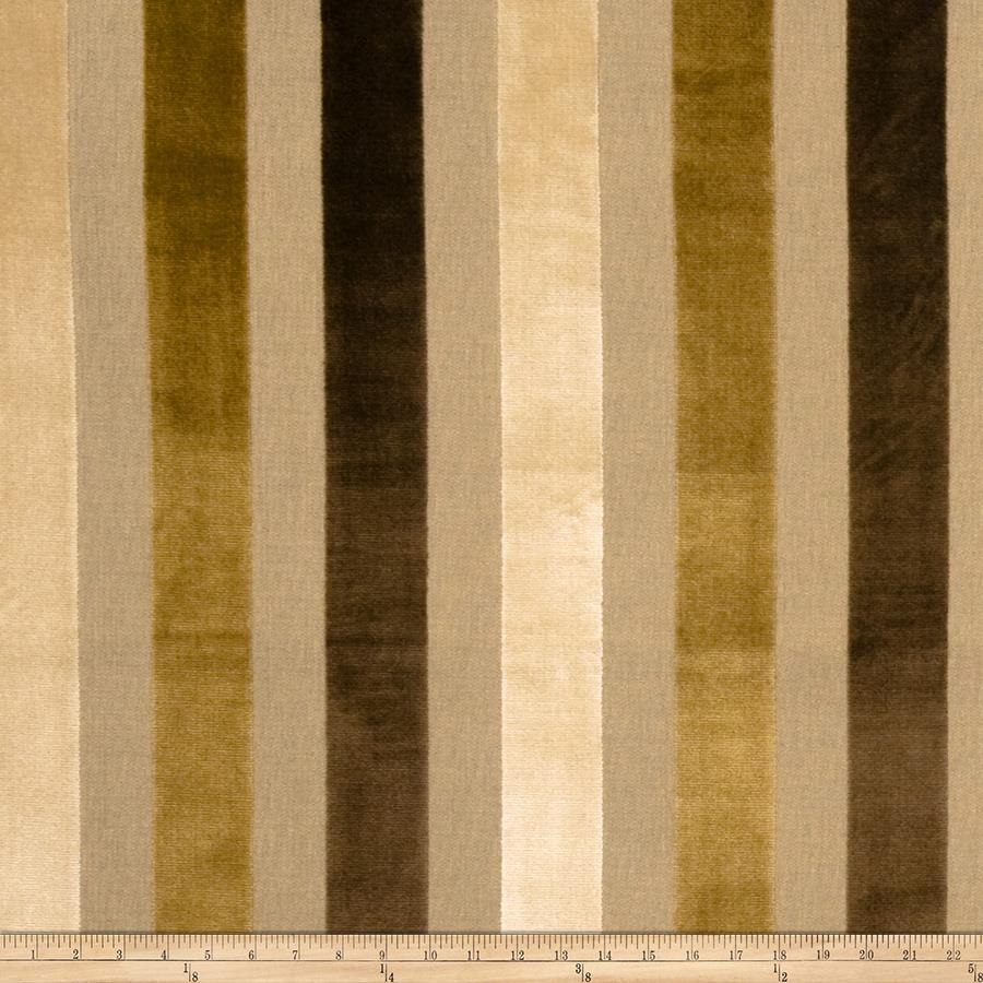 Lillian August Glendon Stripe Velvet Teak