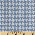 Silk Suiting Houndstooth White/Light Blue
