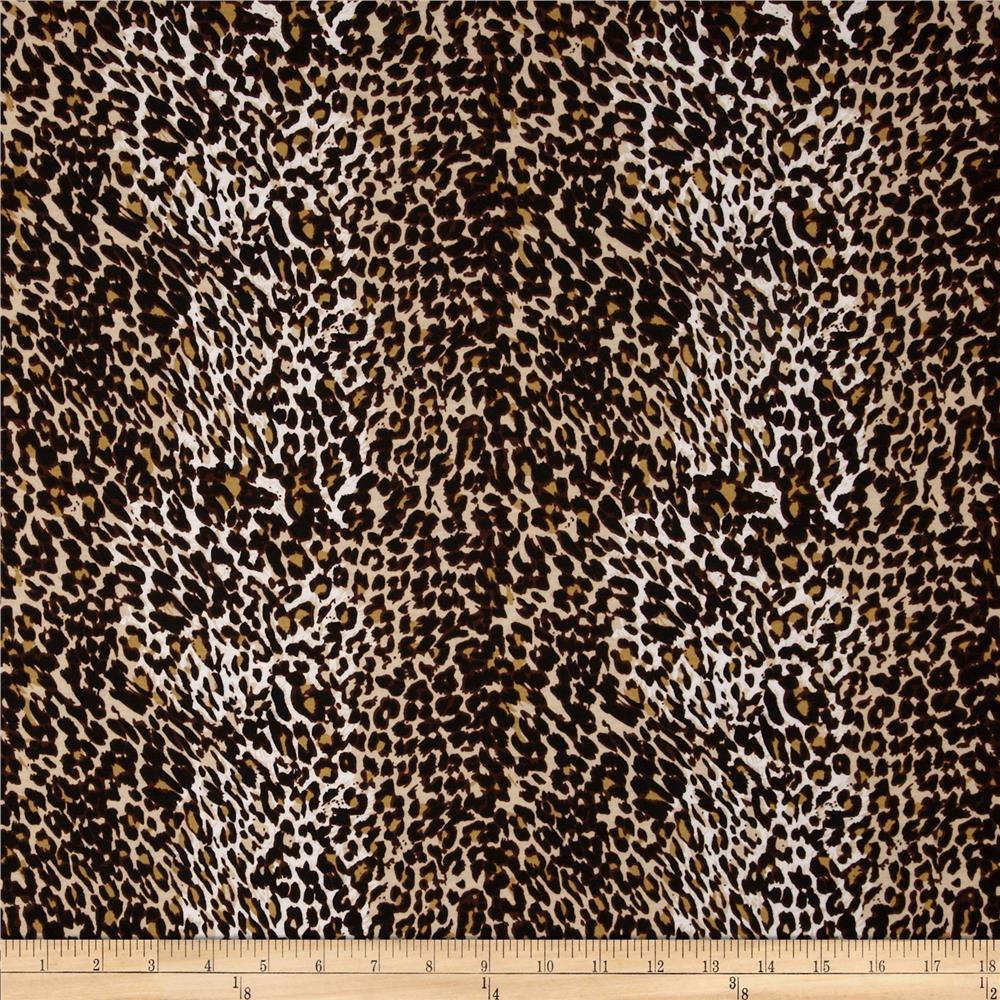 Stretch Jersey Knit Animal Skins Cheetah Brown/Tan
