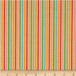 Tutti Frutti Plisse Stripes Peach