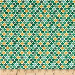 Arabesque Tonal Geometric Teal