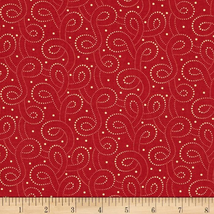 Moda Polka Dots & Paisley Polka Dot Swirls Rich Red