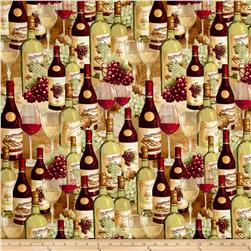 From The Chateau Wine Bottles And Glasses Multi