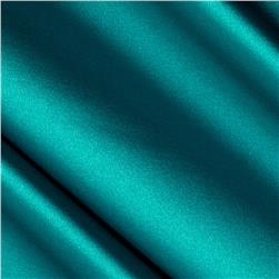 Stretch Satin Teal Green