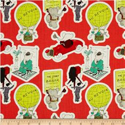 Babar Trip Red Fabric