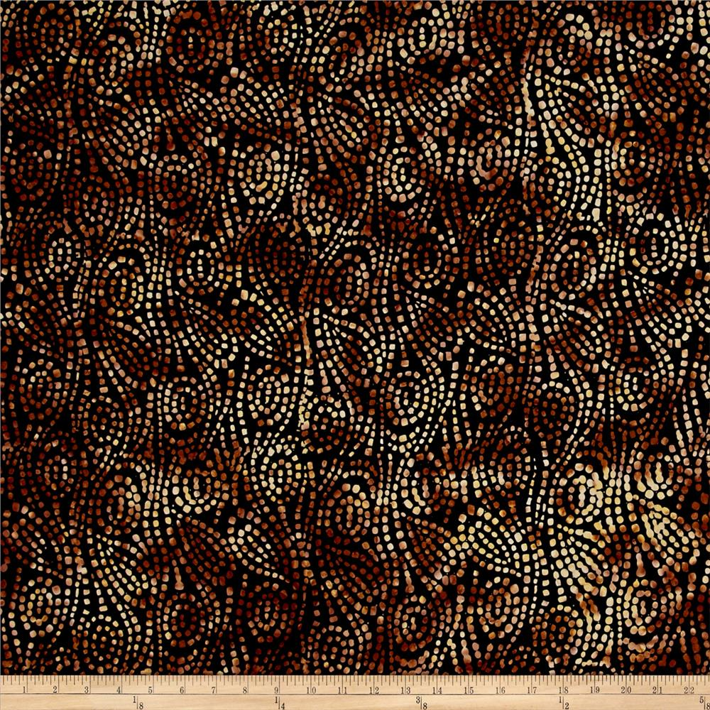 Wilmington Batiks Swirl Chase Black/Brown