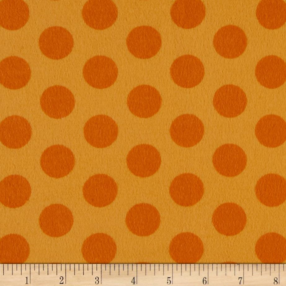 Flannel Cookie Dots Orange Soda