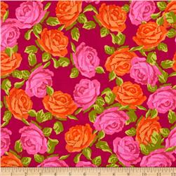 Penny Rose Olivia Roses Pink Fabric
