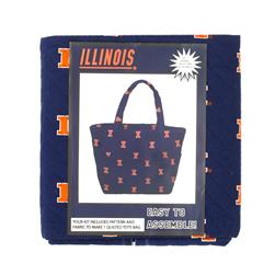 Collegiate Quilted Tote University of Illinois
