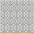 Isabelle De Borchgrave Egyptian Lattice Linen Blend Ocean