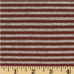 Designer Stretch Rayon Jersey Knit Mini Stripes Burgundy