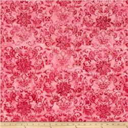 Bali Batiks Handpaints Floral Damask Rose