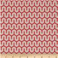 Riley Blake Flannel Simply Sweet Zig Zag Red