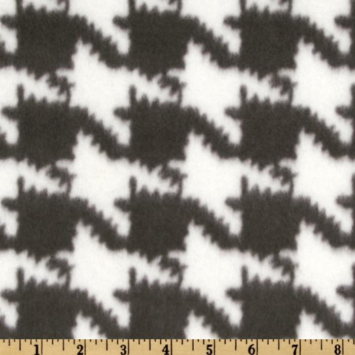 Novelty Fleece Houndstooth Black/White