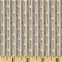 Button Tree Lane Pin Stripe Plum Fabric