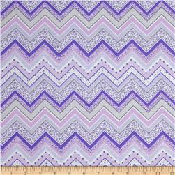Patterned Chevron Lilac Fabric