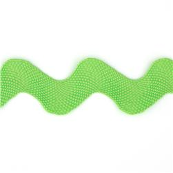 1'' Ric Rac Polyester Large Trim Lime