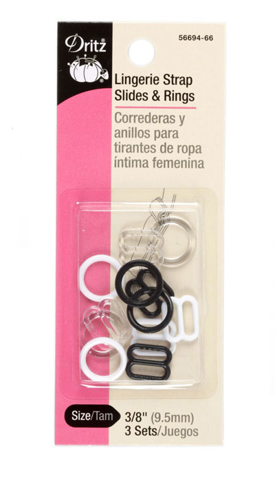 Image of Dritz Lingerie Strap Slides & Rings 3/8'' 3/Sets