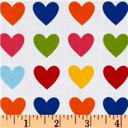 Remix Hearts Bright Fabric