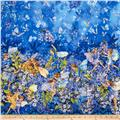 Michael Miller Flower Fairies Dawn Till Dusk Double Border Metallic Starlight