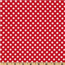 Camelot Flannel Polka Dots Red