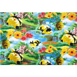 Fleece Pillow Pet Buzzing Bee Yellow