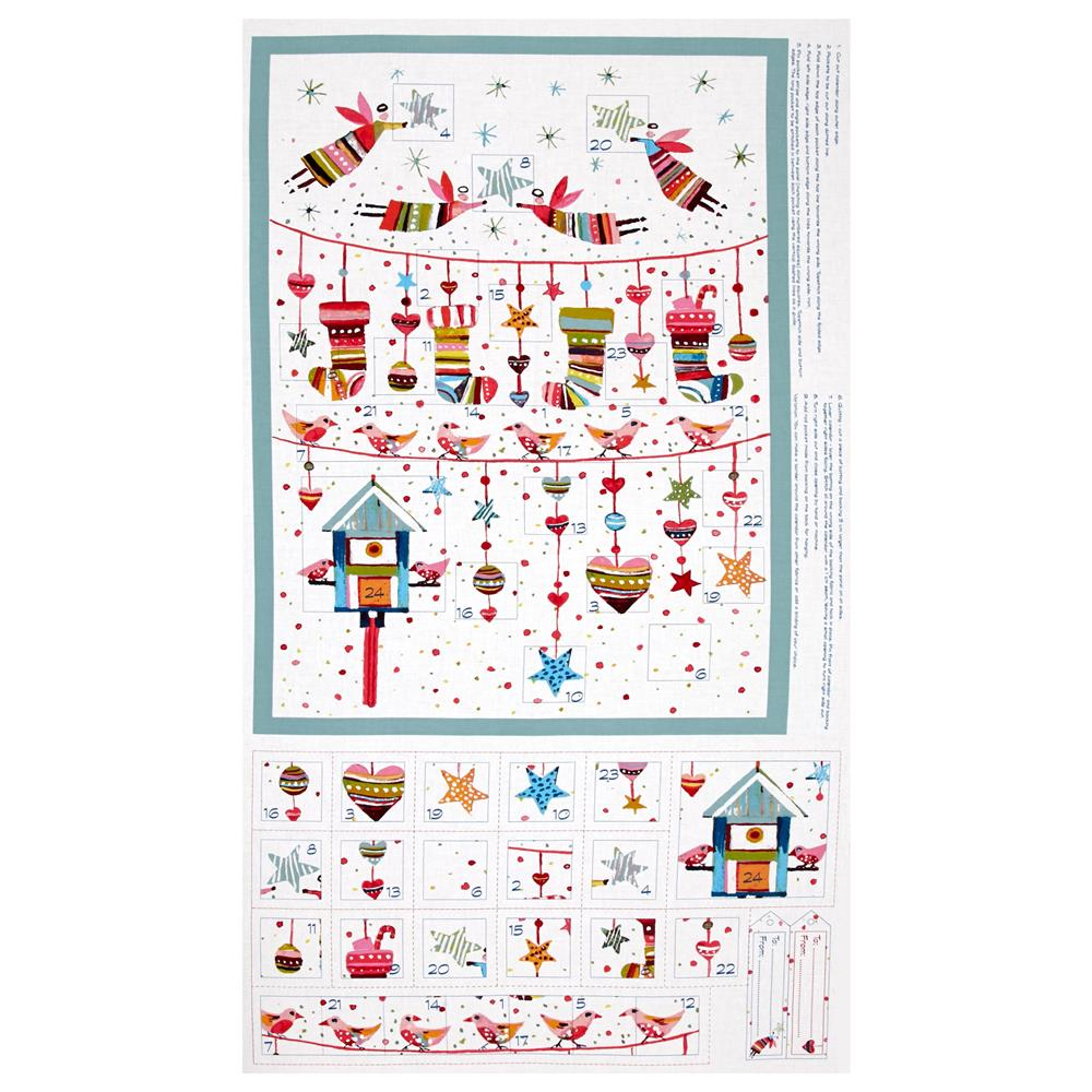 "Sophie Advent Calender 24"" Panel White/Multi"