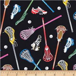 Sports Lacrosse Black Fabric