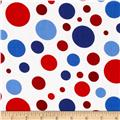 Patriotic Big Dots Red
