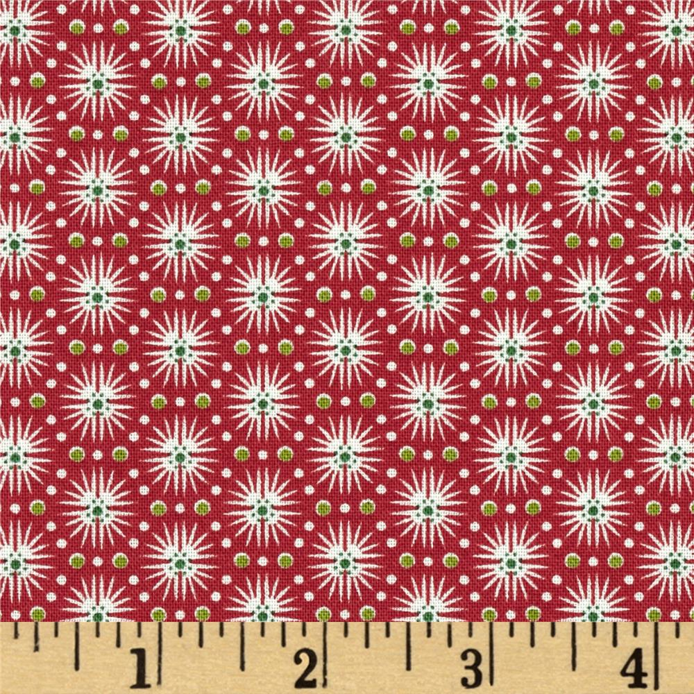 Candy Cane Burst Stripe Red