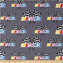 Nascar Allover Nascar Flags Grey