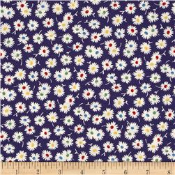 Moda Fresh Air Spiky Flower Navy