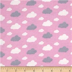 Flannelland Dreamy Clouds Pink