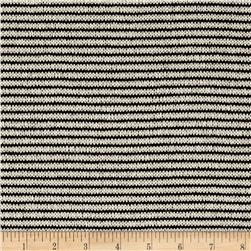Sweater Knit Mini Stripe Black/Cream