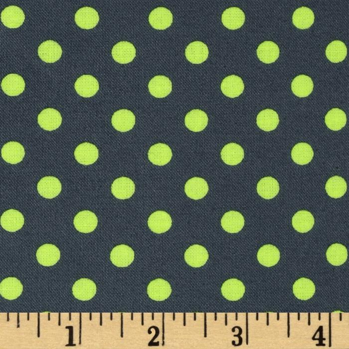 Michael Miller Neon Dot Laminated Cotton Luna