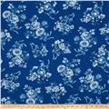 Beach Retreat Floral Navy